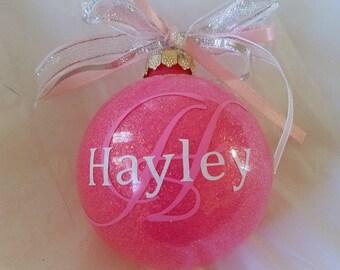 Custom Ornament, Personalize Ornament, Handmade Ornament, Christmas Decor, Vinyl Ornament, Monogrammed Ornament, Personalized Gift