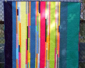 Very Modern Crazy Stripe Quilt