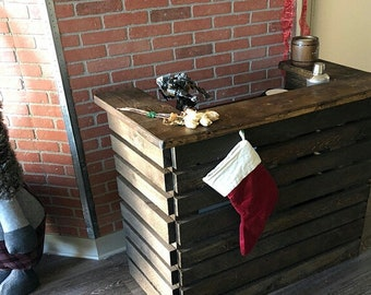 Rustic Pallet Bar Unit, Pallet Reception Desk, Pallet Sales Counter (Reclaimed Wood)