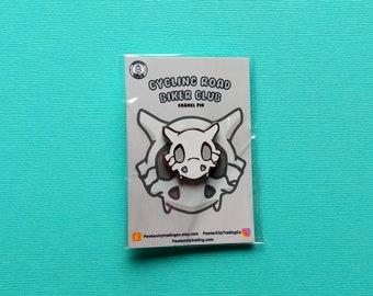 Cubone Skull | Cycling Road Biker Club Pokemon Inspired Enamel Pin | Hand Made Pin | Pokemon Pin