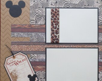 Disney - Animal Kingdom - Double Page - 12X12 Scrapbook Layout