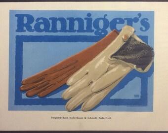 Lucien Bernhard Advertisement for Ranniger's, 1908