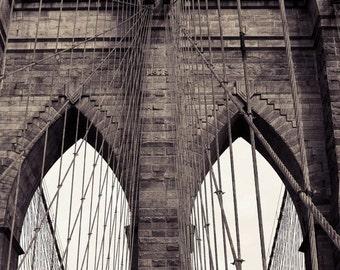 Brooklyn Bridge art, brooklyn bridge print, brooklyn bridge photo, new york art, new york print, new york photography, sepia photography