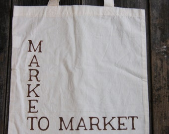 Reusable Bag, Canvas Bag, Bag, Grocery Bag, Produce, Market Bag, Canvas Tote,Tote, Hand Painted, Farmers Market, Market To Market,