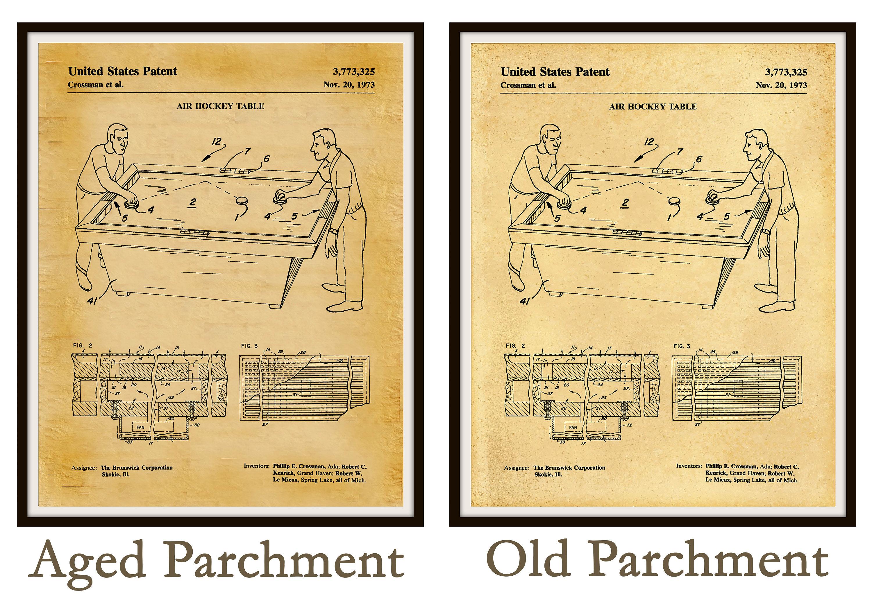 1973 Air Hockey Table Patent Print - Art Print - Poster Print - Game ...