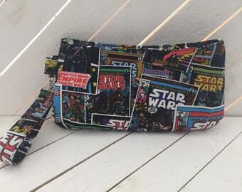 Vader, Darth, Space, Wars, Comics, Star, Cosplay, Nerd, Geek, Purse, Bag, Wristlet, Handbag, Pouch, Clutch, Zipper Pouch