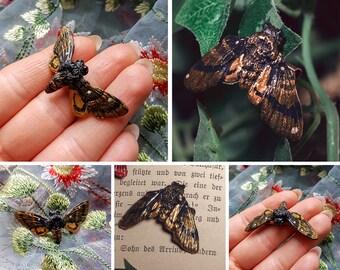Moth Brooch Gold/bronze 4.5 cm