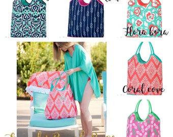 Large Beach Bag, monogrammed Beach tote , Summer Tote , vacation bag, Bridesmaid gift,  bridal party gifts