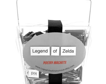 Legend of Zelda Poetry Magnets - Refrigerator Word Quote MagnetsFree Shipping