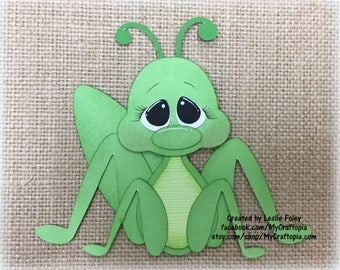 Spring Cricket Premade Scrapbooking Embellishment Paper Piecing