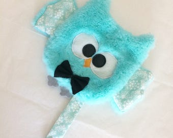 Soft toy OWL / OWL / owl / OWL / /attache pacifier pacifier / birth gift. French manufacturing.