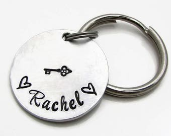 Personalized Name Keychain - Hand Stamped Key Chain with Name - Custom Name Keychain - Gift under 20 - KeyChain Personalized
