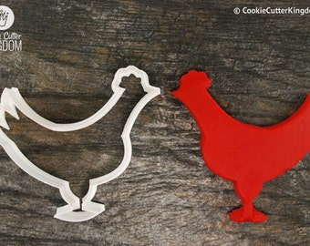 Chicken Cookie Cutter, Mini and Standard Sizes, 3D Printed