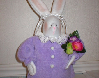 """Instant Download PDF Sewing E-Pattern for Fabric """"Bertha"""" Bunny Easter or Spring Spring Summer Rabbit"""