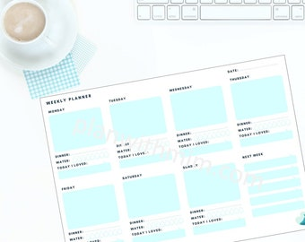 Weekly Planner Printable - Instant Download!