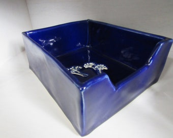 Handmade Napkin Holder-Cobalt Blue Glaze
