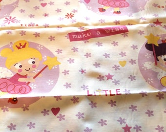 Coupon fabric girl 50 x 70 cm princesses