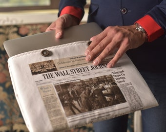 12 inch Macbook case The Wall Street Newspaper Case Sleeve  Macbook 12 sleeve Macbook 12 inch case New Macbook 12 case Macbook 12 cover case