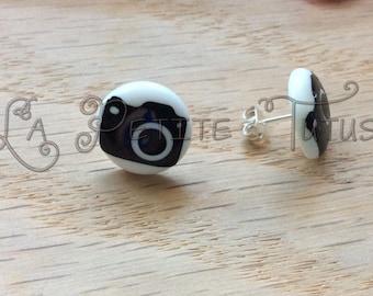 photography earrings, camera, personalized, custom, handmade, jewelry, post earrings, stud earrings, nickel free, vinyl, vinyl decal