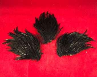 large-one HACKLE FEATHER PAD- New-Headband/Hats/Bridal/Craft/Dress-bird-milinery