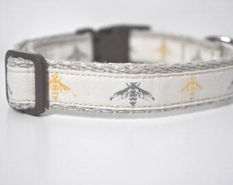 Hemp Webbing Dog Collar  - 'Nature Lover'  - 50% Profits to Dog Rescue - Small to Medium Size