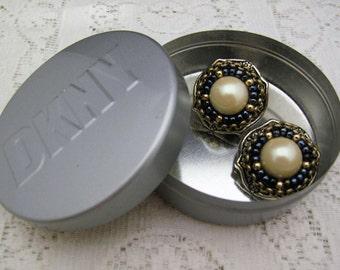 DKNY Donna Karan New York earrings Eric Beamon for DKNY authentic vintage earrings, circa 1991