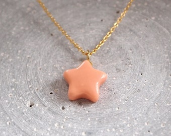 Porcelain chain little star