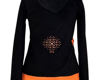 Women sweater made in France in fleece and customizable 3975 Hz