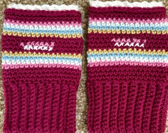 Crochet fingerless mittens/gloves/wrist warmers