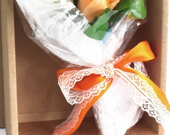 New in box soap floral bouquets -