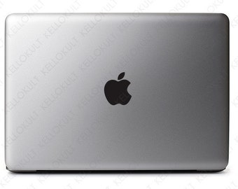 Black Apple Sticker Decal for the Macbook Pro 2011-2015 version