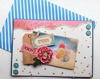 """Card """"Head in clouds"""""""