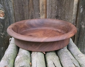 Walnut Wood Bowl - Reclaimed Walnut Wood Wooden Bowl - Rustic Home Decor - Hand Turned Wood Bowl