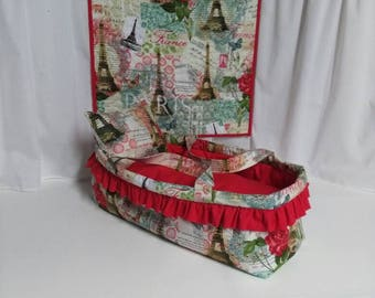Baby Doll Bed / Carry Cot / Moses Basket /Gift for little girl / Christmas gift. Holds an 18in doll