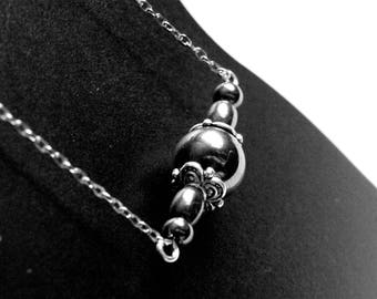 Necklace chain and Pearl hematite gem
