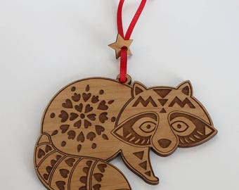 Raccoon ornament- Christmas Tree Ornament- Christmas Gift