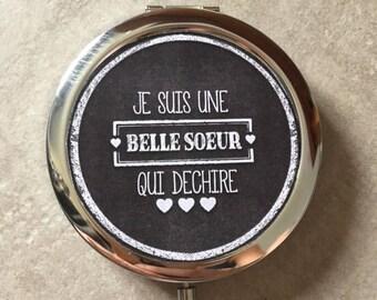 Beautiful sister - Pocket mirror - 77mm x 70mm