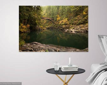 "Photography Art Print, Photo Print, Art Print, Wall Art, Decor, Moulton Falls, Washington, Water, Gift for Him, Titled ""Moulton Falls"""