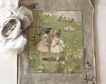 Victorian Cloth Scrapbook
