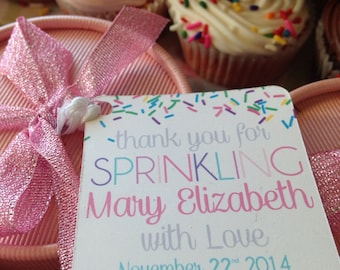 Baby Girl Sprinkle Favor Tags