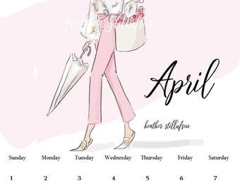 April  Planner Pages - Digital Desk Calendar - April Calendar Planner Page  -Planner Pages April Heather Stillufsen