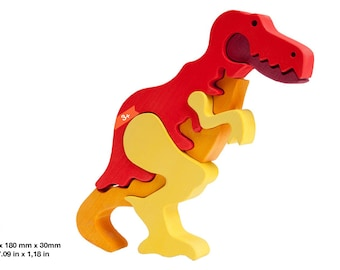 Wooden puzzle dino T-rex
