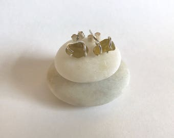 Rare yellow sea glass studs, sea glass earrings,sea glass,gift for her,sea glass jewellery,yellow earrings,sea glass jewelry,seaham
