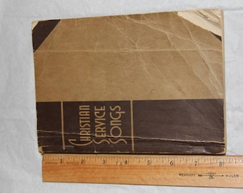 Christian Service Songs, Rodeheaver, 1939, Paperback
