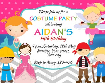 Costume party invite etsy costume party invitation halloween costume party costume birthday party costume birthday invitation halloween party invites halloween stopboris Choice Image