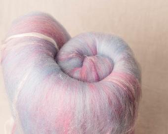 Large gently textured Batt for spinning or felting (170244)