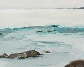 Art card print- Calming Waters-   by Lauriann Wakefield  of Bear Lake