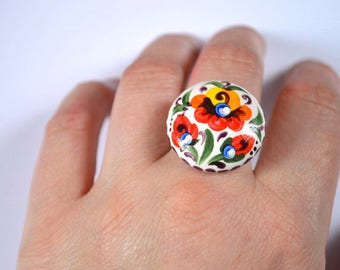 beautiful jewelry adjustable ring gift for girls birthday gift for women jewelry rainbow lgbt jewelry multi-colored eco Colorful jewelry Art