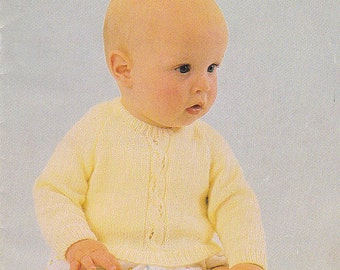 Patons 3 Ply  Feathersoft  Knitting Designs for Baby Pattern No 456 - Vintage 1970's