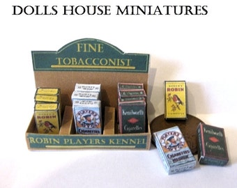 DOLLS HOUSE SHOP  vintage counter stock tobacco